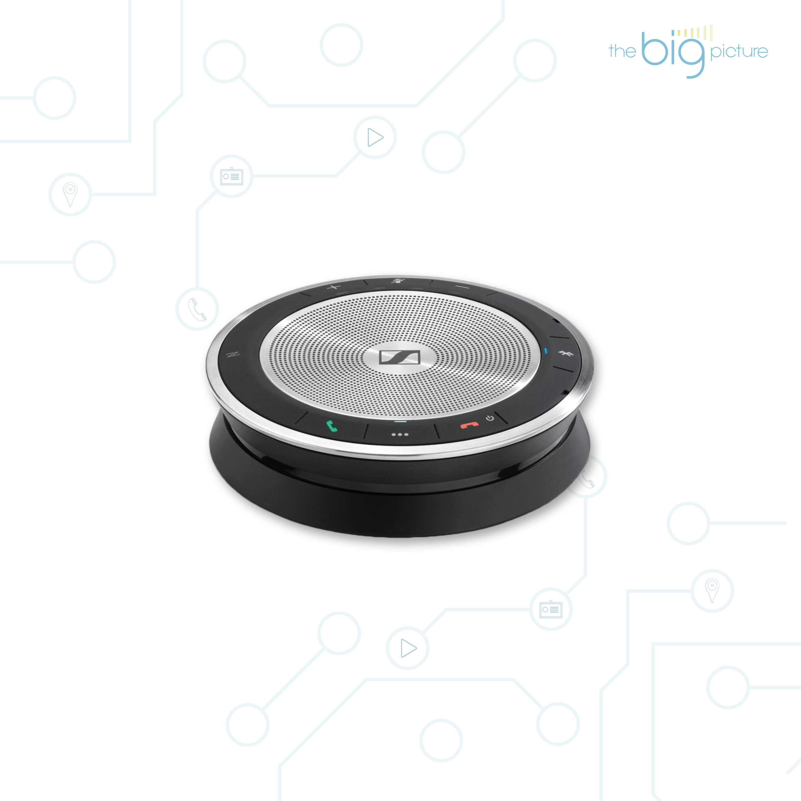 Sennheiser SP 30 - bluetooth speaker for video conferencing.