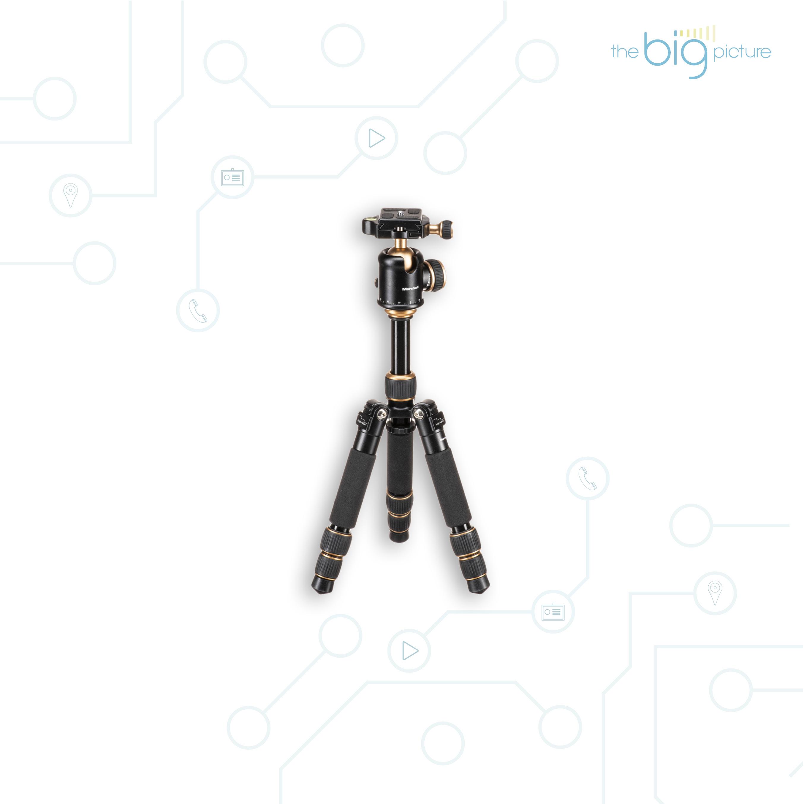 Marshall Pro-Style Tripod Stand  balanced tripod with extending legs