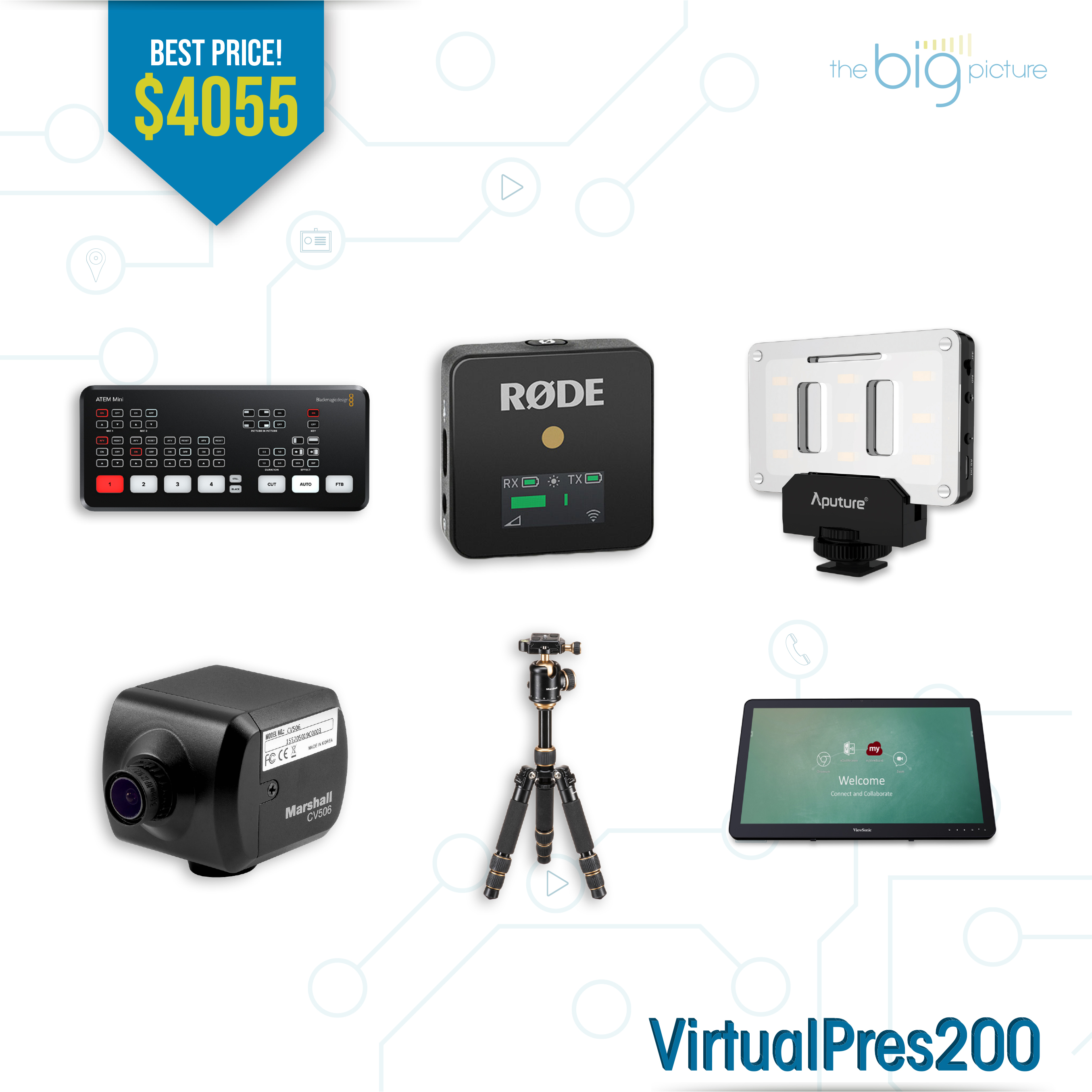 A set of products for VirtualPres200