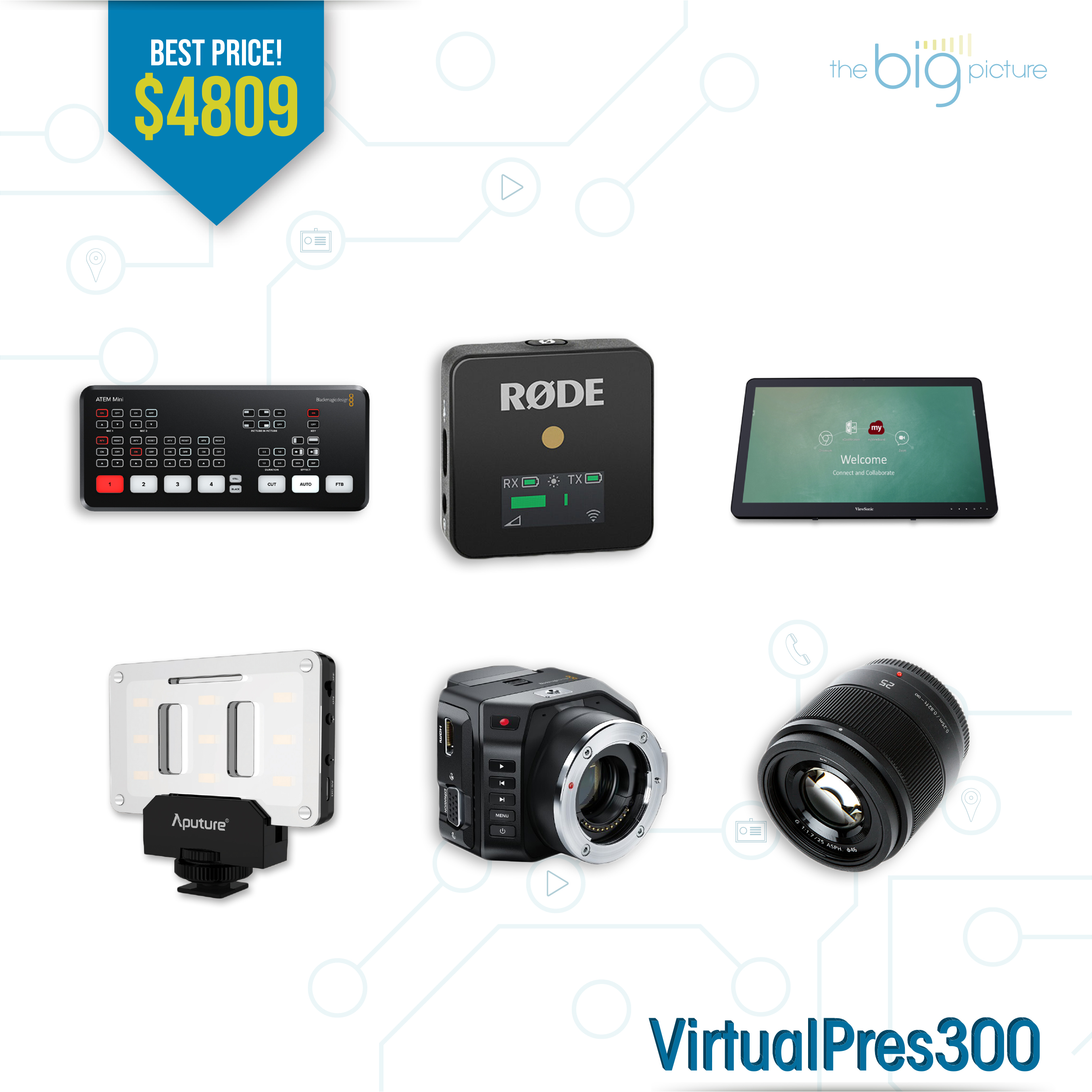 A set of products for VirtualPres300