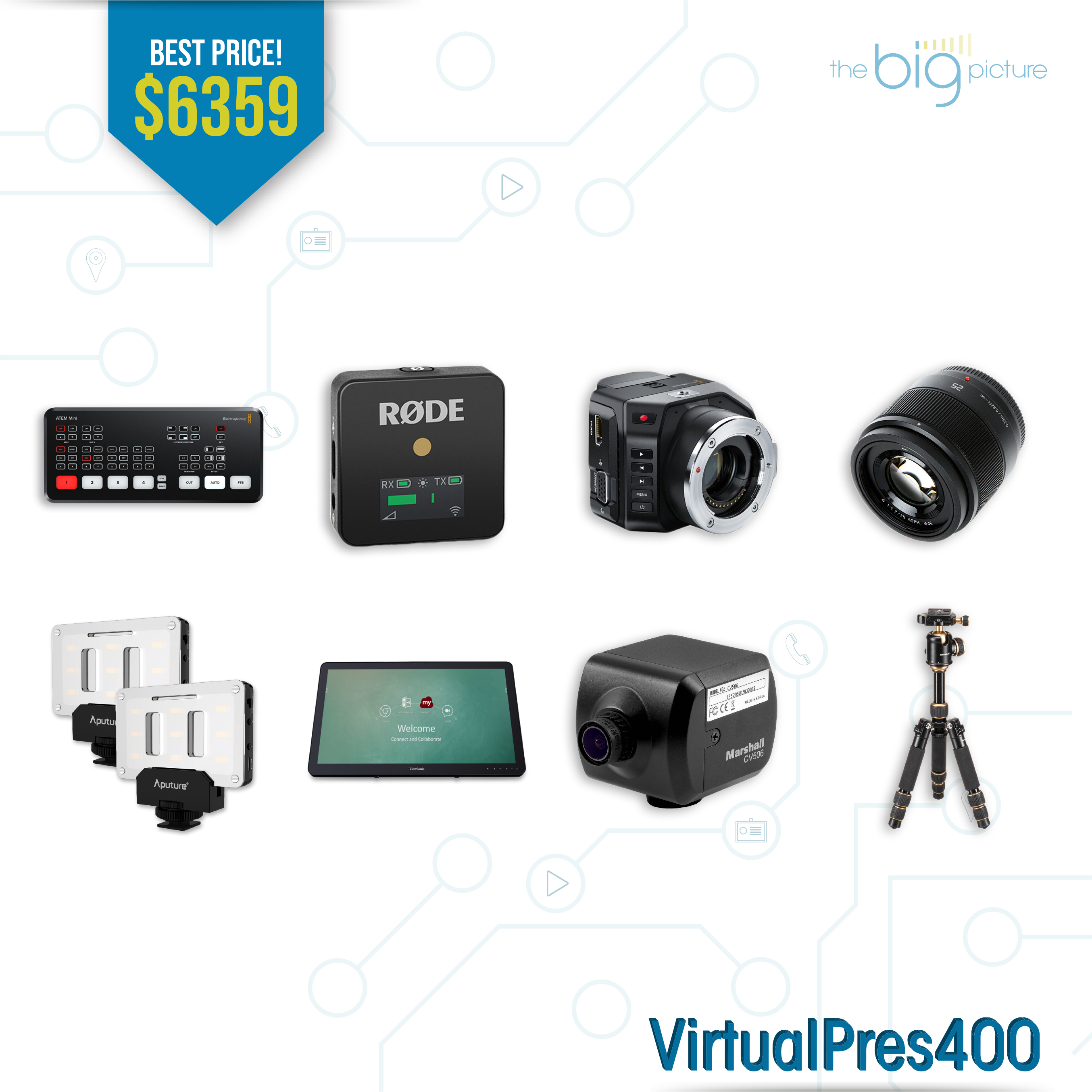 A set of products for VirtualPres400